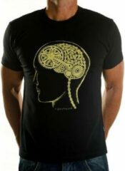 Gouden Cycology Bike Brain - T-Shirt - Black - Maat S