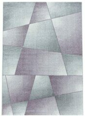 RIO Impression Basics Style Laagpolig Effen Vloerkleed Lila / Grijs- 120x170 CM