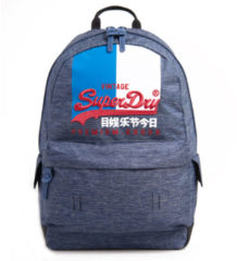 Marineblauwe Superdry Vintage Logo Montana Backpack Dark Navy Marl