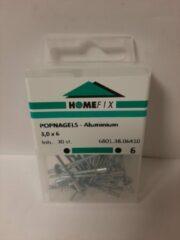 Homefix Popnagels-Aluminium 3.0x6 25 Stuks