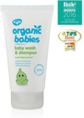 Groene Green People Organic babies baby wash & shampoo scent free 150 Milliliter