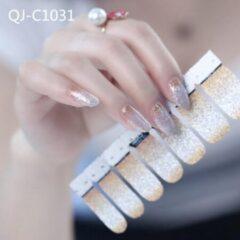 GUAPÀ - Nagelstickers & Nail wraps - Nail Art - Nagel Folie - Goud / Zilver - 14 stuks