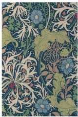 Morris & Co - Laagpolig vloerkleed Morris & Co Seaweed Ink 28008 - 140x200 cm