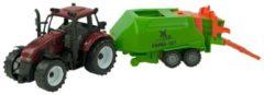 Warenhuisgigant Tractor Frictie Met Balenmaker 40cm 2ass