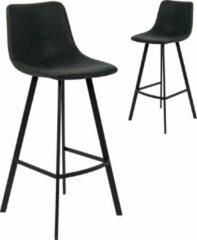 DC Interior Set van 2 barstoelen Ozan H 65cm - zwart