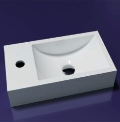 Lambini Designs Recto solid surface fontein 40x22x10cm links