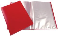 Liderpapel 5 Star showalbum, ft A4, 10 tassen, rood