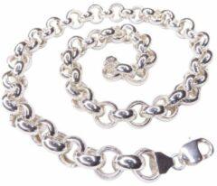 Gouden Christian Zilveren armband met synthetische edelstenen