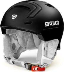 Zwarte Briko Ambra Ski helmet Matt Shiny Black - Maat M/L