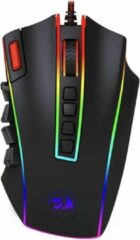 Zwarte Red Dragon Elite Pro - Optische Gaming Muis | 24000 DPI - 24 Knoppen Programmeerbaar - Ergonomisch Design - LED Backlight