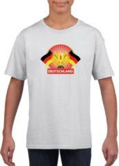 Witte Shoppartners Wit Duits kampioen t-shirt kinderen - Duitsland supporter shirt jongens en meisjes XL (158-164)