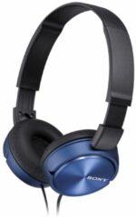 Blauwe Sony MDR-ZX310APL on-ear koptelefoon