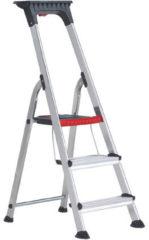 Grijze Altrex Double Decker Huishoudtrap 3 treden - 2.60m werkhoogte -Tot 150 kg