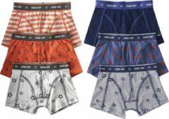 Little Label - jongens - onderbroek - 6 stuks - oranje, blauw - maat 110/116 - bio-katoen
