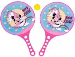 Disney strandtennisset Minnie Mouse 3-delig roze/blauw