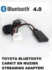 Zwarte Uwautoonderdeel.nl Matrix Corolla Landcruiser Camry Bluetooth carkit en muziek streaming adapter aux module Dongle Mp3 AD2P