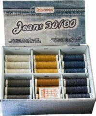 Zwarte Ackermann® Ackermann Jeans naaimachinegaren