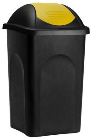 Afbeelding van Gele Somultishop Vuilnisbak, vuilnisemmer, prullenbak 60 L, zwart/geel