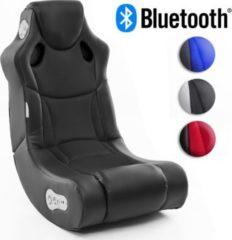 Wohnling BOOSTER Soundsessel 2.1 mit Bluetooth Gaming Multimedia Rocking Chair Music Rocker Soundchair Multimediasessel Schwarz