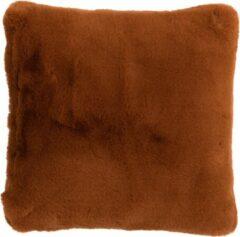 J-Line Kussen Cutie Polyester Bruin/Oranje