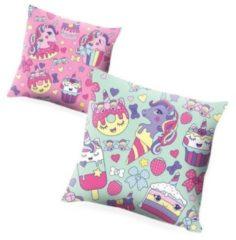 Kids Licensing kussen Cupcake meisjes 45 x 45 cm polyester roze/mintgroen