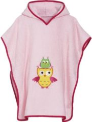 Playshoes - Kid's Frottee-Poncho Eule - Poncho maat S - < 4 Years, roze