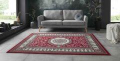 Tapeso Vloerkleed retro oriental - rood 120x160 cm