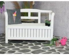 SenS-Line Pinokkio 2-persoons houten koffer tuinbank wit