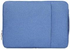 Mac-cover.nl 15 inch sleeve met extra vak - licht blauw