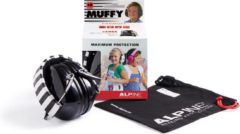 Zwarte Alpine Hearing protection Alpine Muffy - gehoorbeschermer voor kinderen - SNR 25 dB - zwart