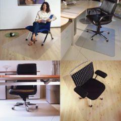 Transparante Floortex vloermat Cleartex Ultimat voor harde oppervlakken rechthoekig formaat 120 x 134 cm