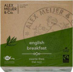 English Breakfast Displaydoos 100 Theezakjes 4 gram Alex Meijer