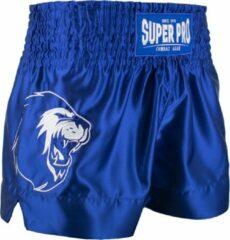 Super Pro Sportbroek - Maat L - Mannen - blauw/wit