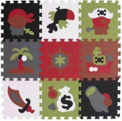 SensaHome Puzzelmat Piraten - Speelkleed/Speelmat/Vloermat Voor Kinderen - Foam Speelmat 30 x 30 CM