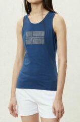 Blauwe Napapijri Sefro Mode Dames Poloshirt Maat L