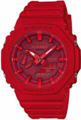 Casio G-Shock GA-2100-4AER Horloge Classic rood 45 mm