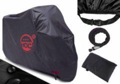Zwarte COVER UP HOC Scooterhoes Vespa met laag scherm (L) stofvrij / ademend / waterafstotend Red Label