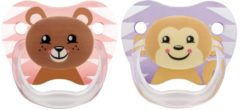 Dr. Brown's Dr Brown's Fopspeen Animal faces - Fase 2 - Roze 2-pack