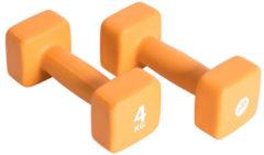Oranje Pure2Improve Neopreen Dumbell set 2x4 kg