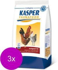 Kasper Faunafood Multigraan Kip - Kippenvoer - 3 x 4 kg