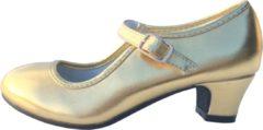 Spaansejurk NL Elsa & Anna schoenen goud - Spaanse Prinsessen schoenen - maat 31 (binnenmaat 20,5 cm) bij verkleed jurk