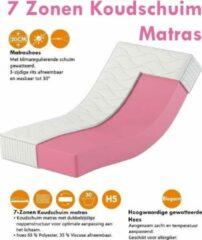 Witte Karex® Elegant Serie 160x200 20cm Koudschuim Matras Met 7 ligzones H3 H4 Twee persoons Matras