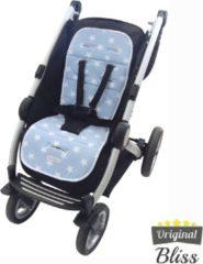 Bliss Inlegkussen buggy - Buggy accessoires - Buggy kussen - Buggy inleg - Ster Lichtblauw