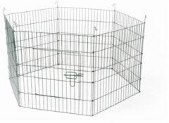 Adori Konijnenren Metaal Zwart - Dierenverblijf - 90x63 cm