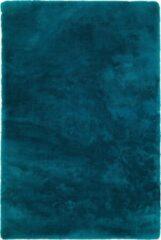 Decor24-OB Handgeweven hoogpolig vloerkleed Curacao - turquoise - 60x110 cm