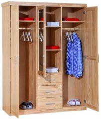 Woody Möbel Kleiderschrank natur lackiert