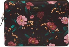 Wouf laptophoes 13 inch black flowers