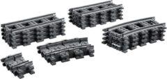 Grijze LEGO City Rechte en Gebogen Rails - 60205
