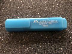 Faber Castell Tekstmarker Faber-Castell 1546 pastel licht blauw