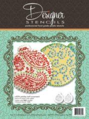 Designer Stencils Paisley Ball Ornament | Sjabloon Set van 2 |Kerstballen